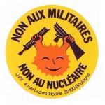 12 autocollant Union Pacifiste 1989